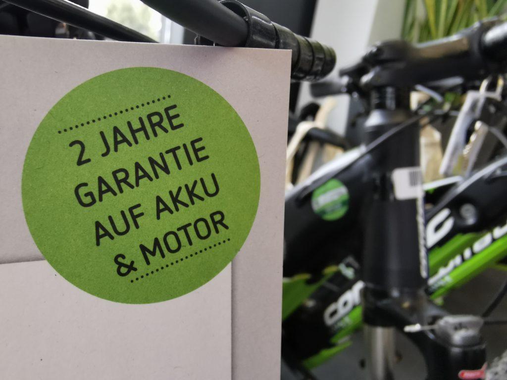 E-Bike kaufen mit Garantie