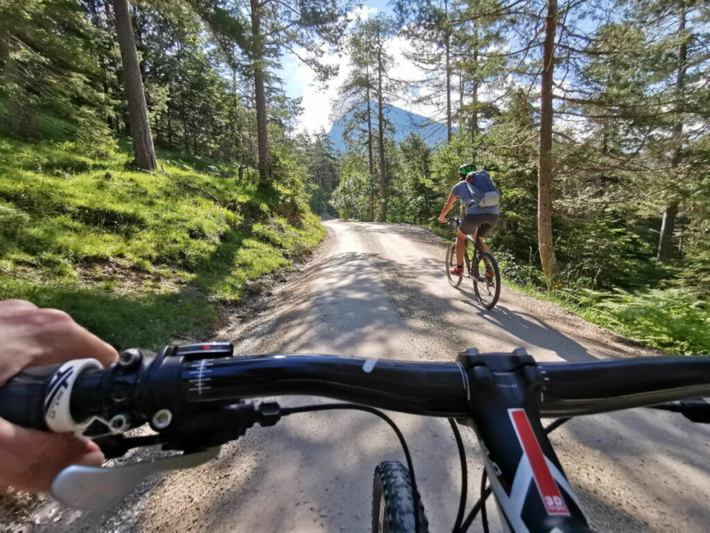 MTB Urlaub in Tirol - auf dem Weg zum Isarursprung